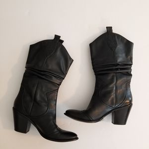 BCBGeneration Shoes - BCBGeneration Black Leather Boots